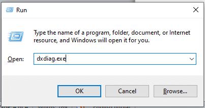 Open the Run dialog box using the Windows + Run keys on the keyboard