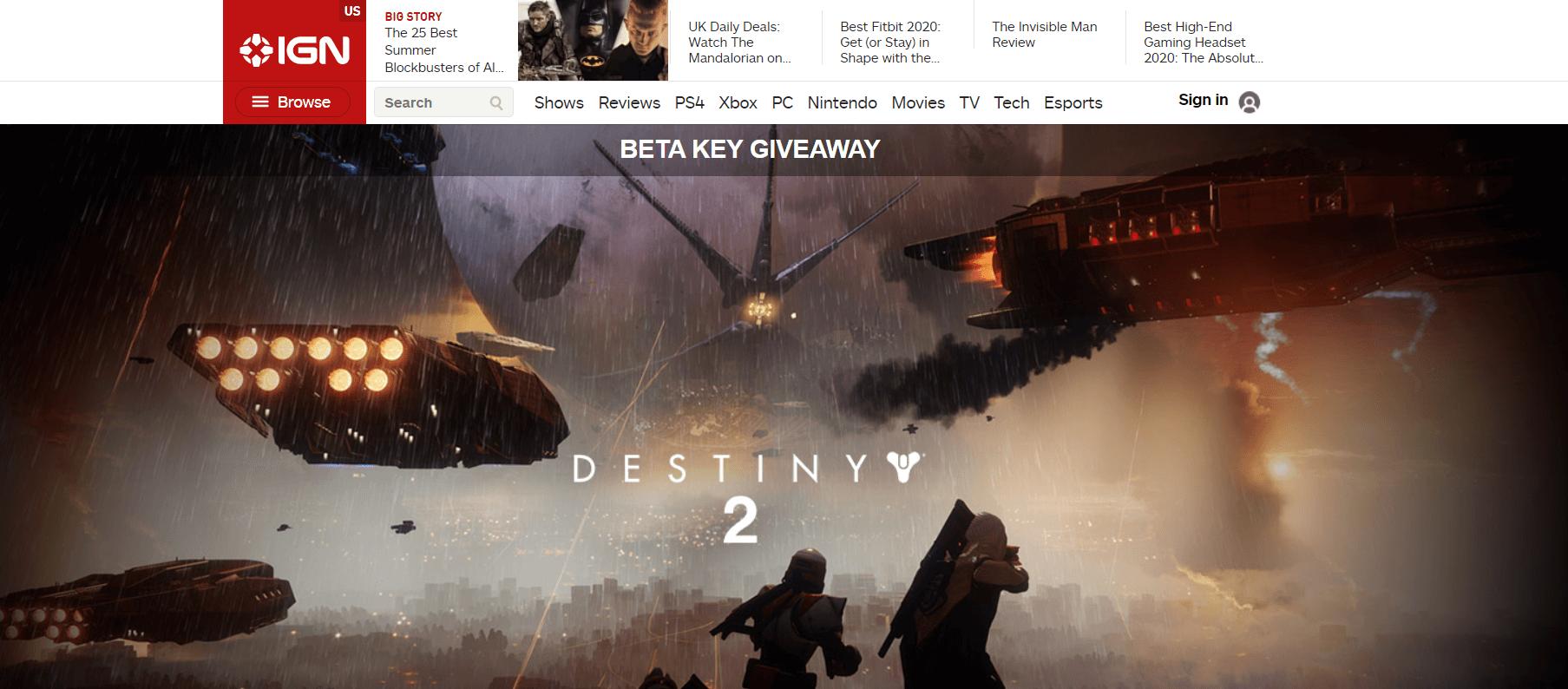 IGN Beta Giveaway