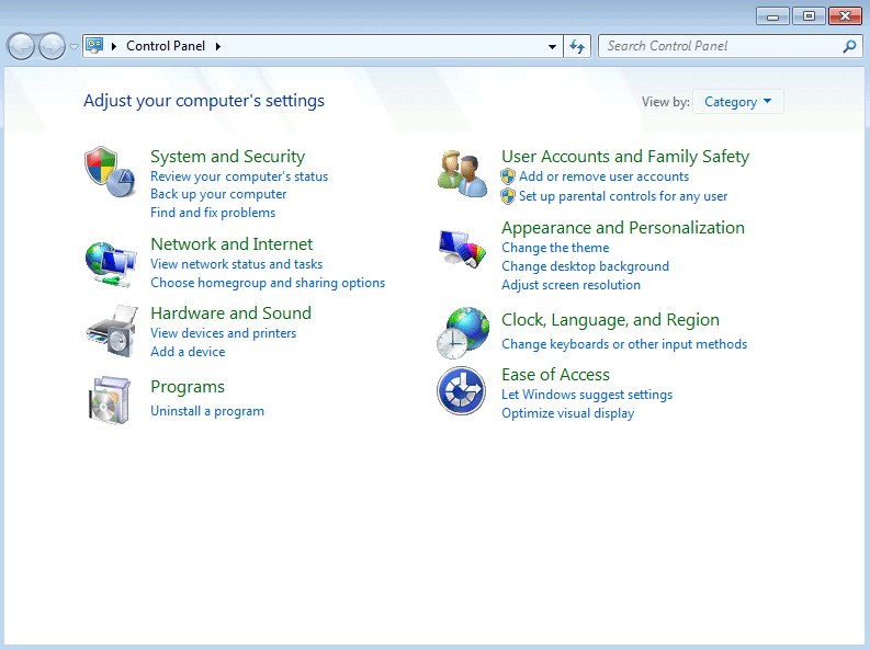 In the search bar of Control Panel, search for the troubleshooter