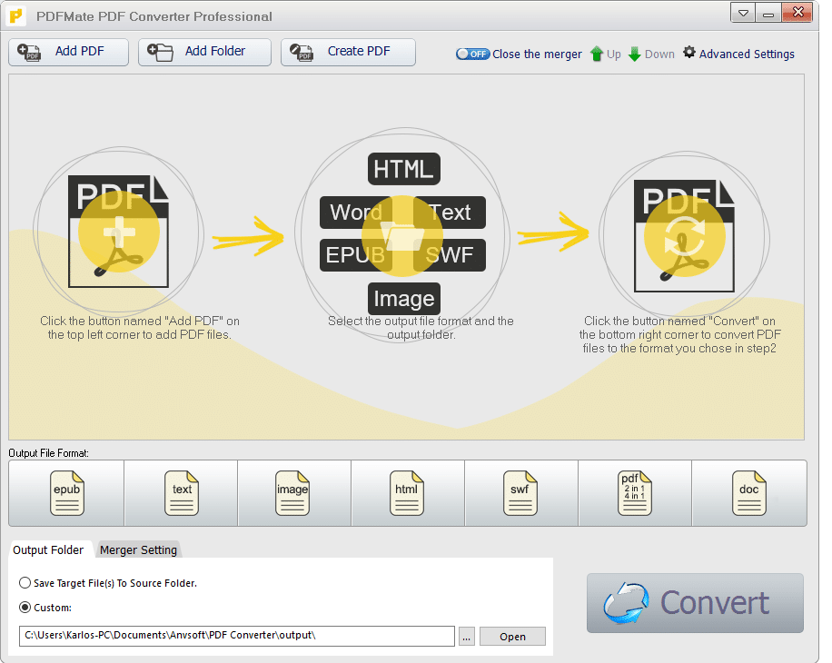 run the app PDFMate PDF Converter Professional