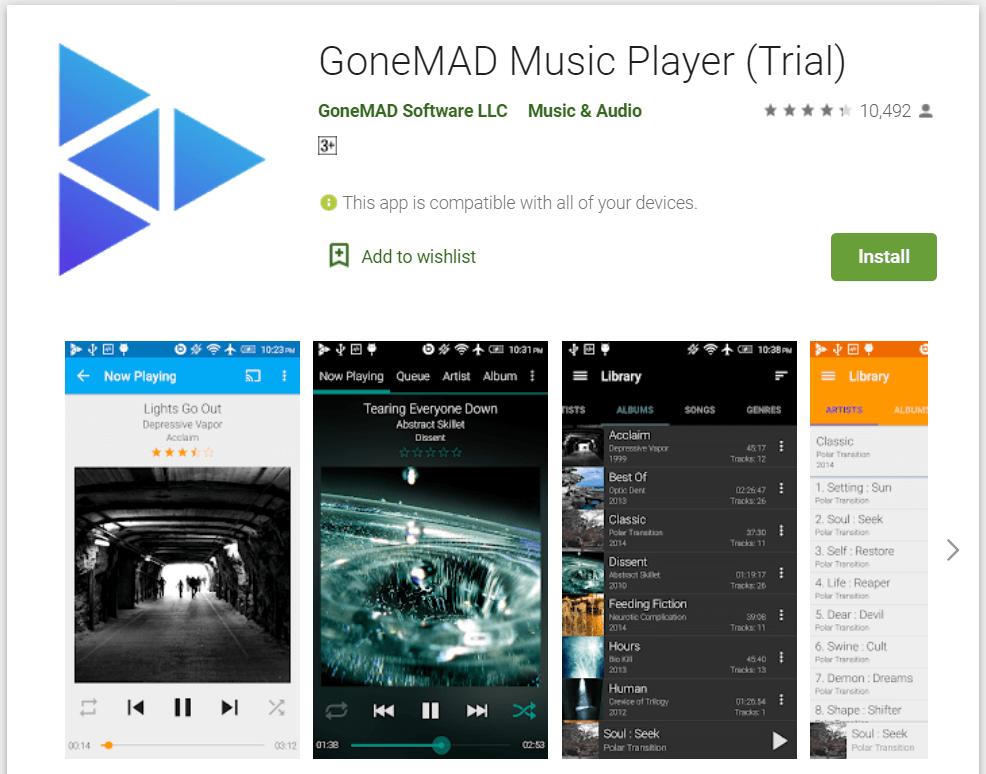 gonemad music player