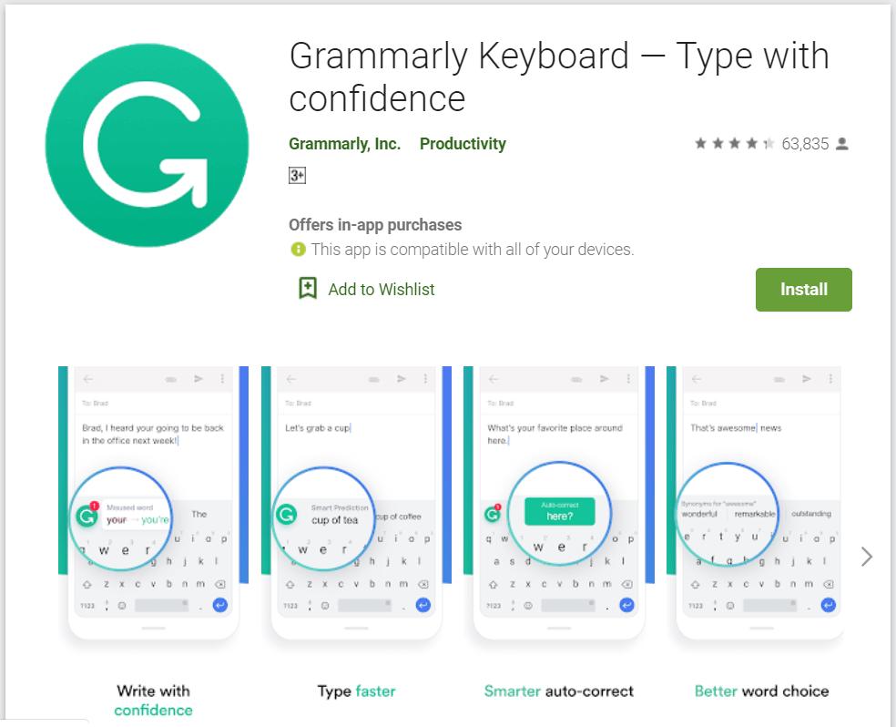 grammerly keyboard