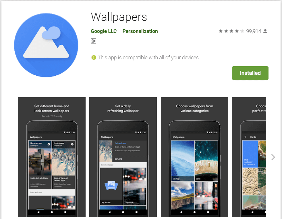 Wallpapers by Google