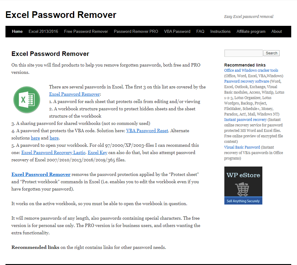 Remove Password with Excel Password Remover