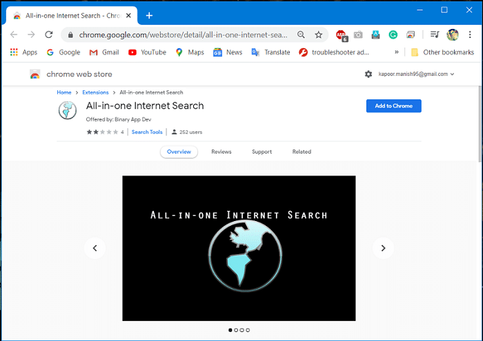 Facebook All in one internet search