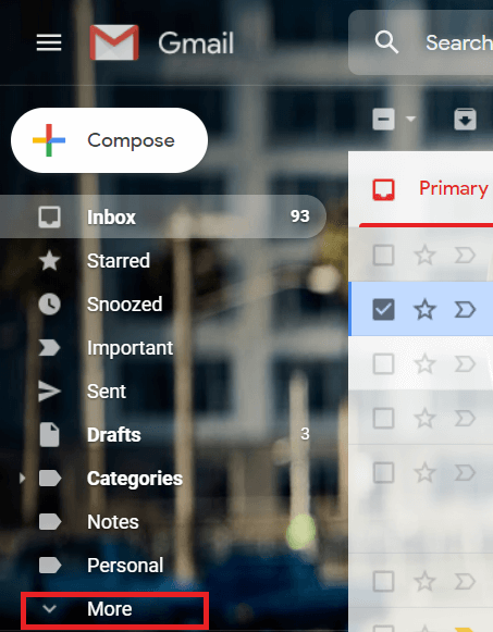In the left pane, expand the 'More' section.