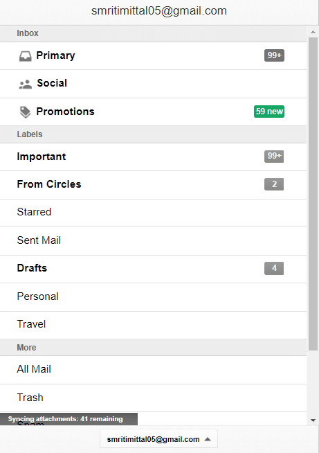 Click on the hamburger menu icon to open any required category