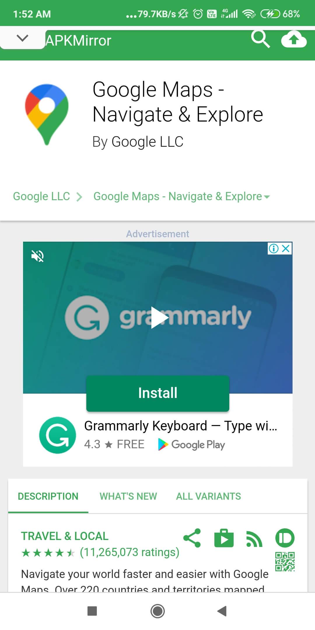 Download an Older Version of Google Maps
