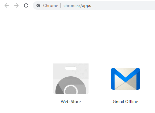 Open a new tab in your Chrome browser and click on the Gmail Offline icon to open it