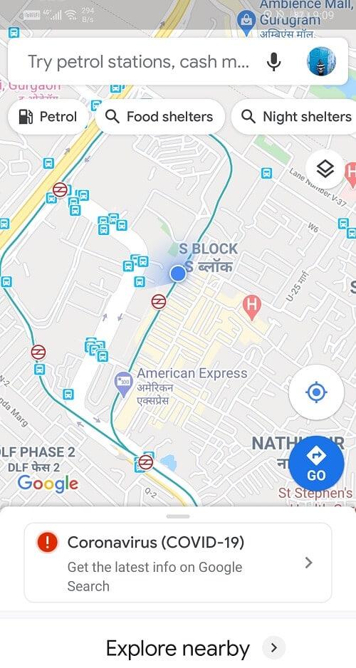 Open the Google Maps app