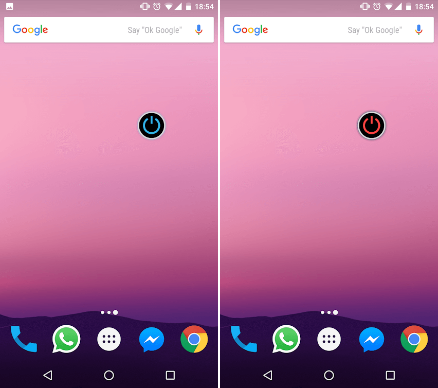 Use a Widget to turn on the Flashlight on Android devices