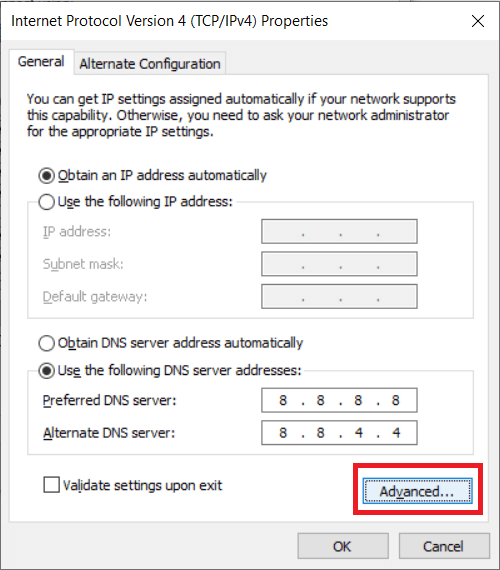 You can also have more than two DNS addresses at the same time