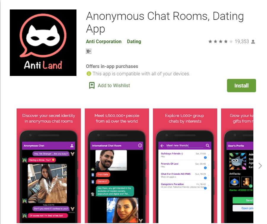 Anonymous chat Rooms