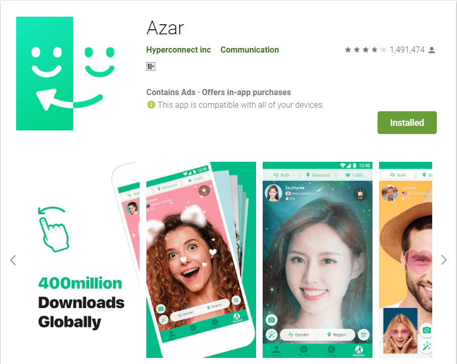 Azar | Top Android Apps to Chat with Strangers