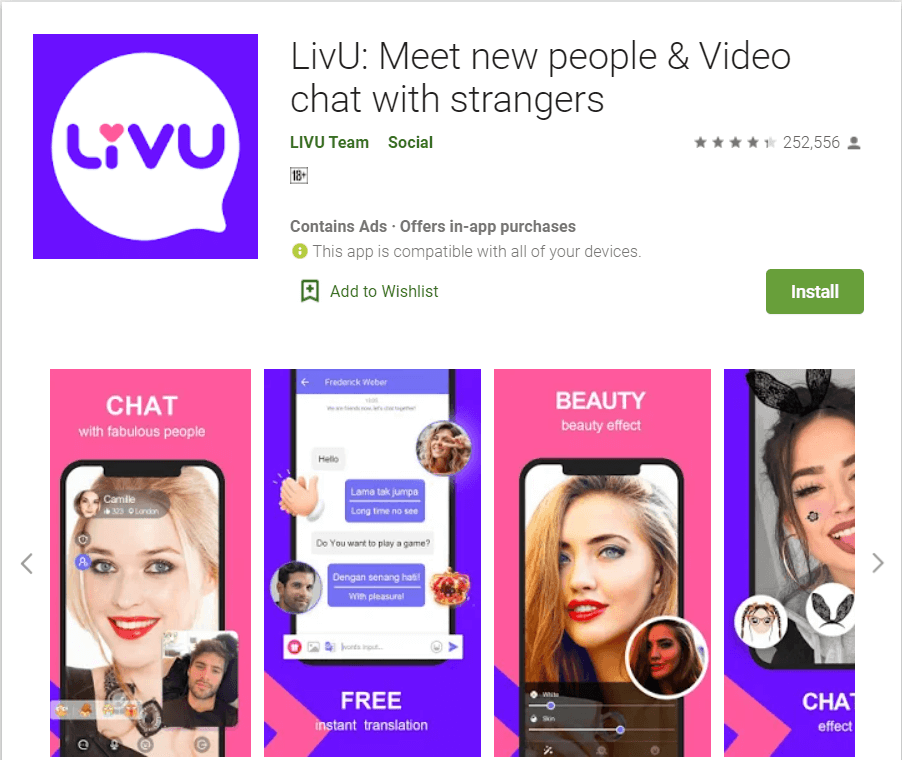 LivU | Top Android Apps to Chat with Strangers