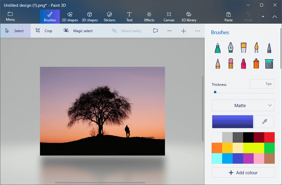 Open another image in Paint 3D