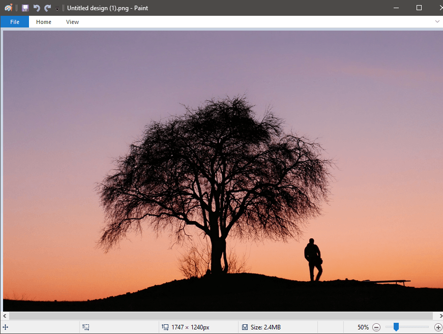 Open the image you want your selection to be combined with in MS Paint | How to Make Background Transparent in MS Paint