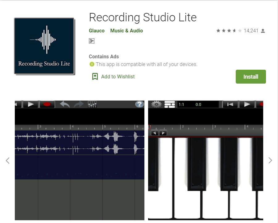 Recording studio lite