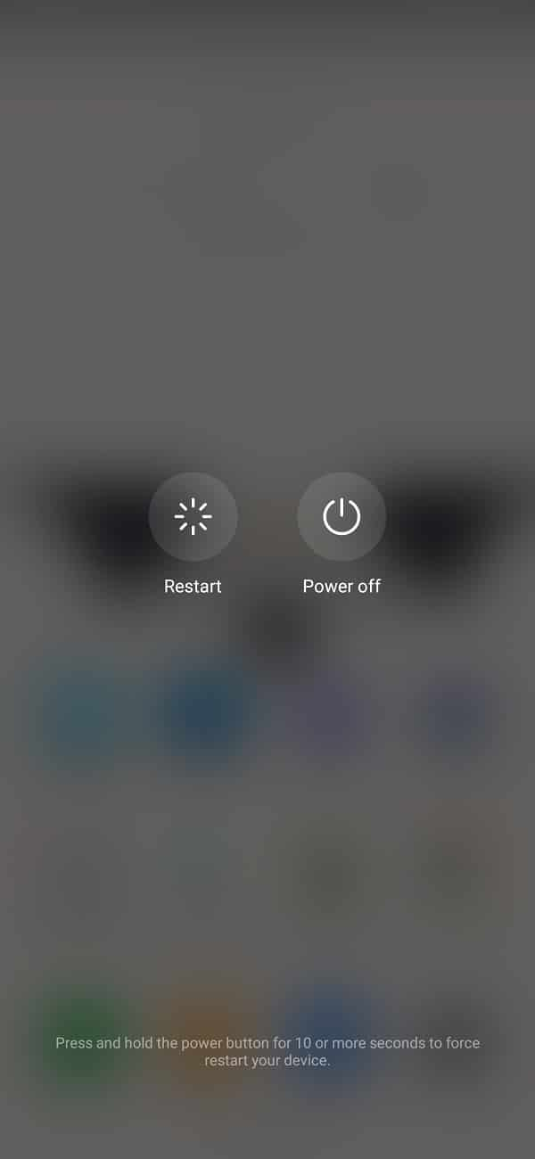 Restart your phone to fix the issue