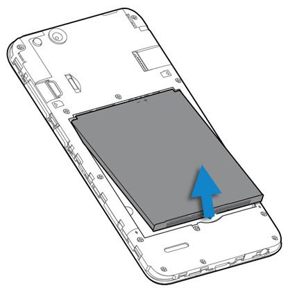 Slide & remove the backside of your phone's body then remove the Battery
