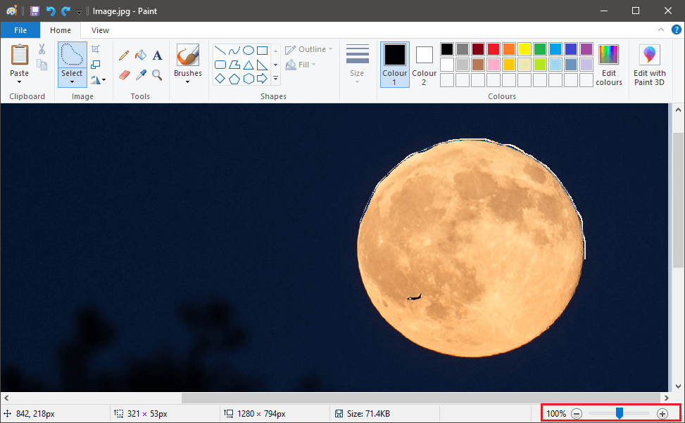 Slowly and carefully trace the outline of the object using your mouse | How to Make Background Transparent in MS Paint