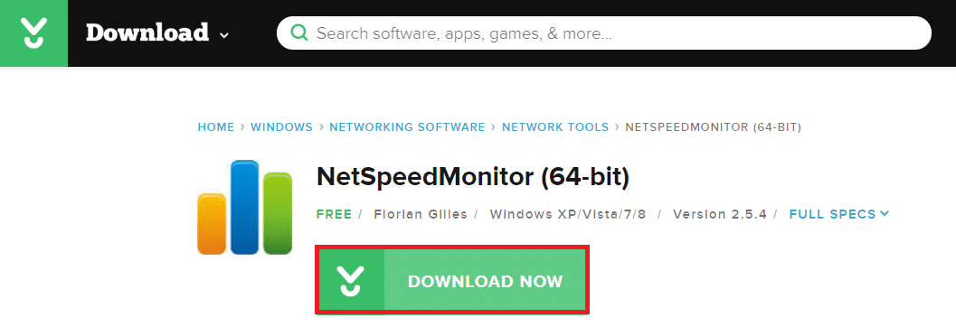 The best option to download NetSpeedMonitor is through CNET.