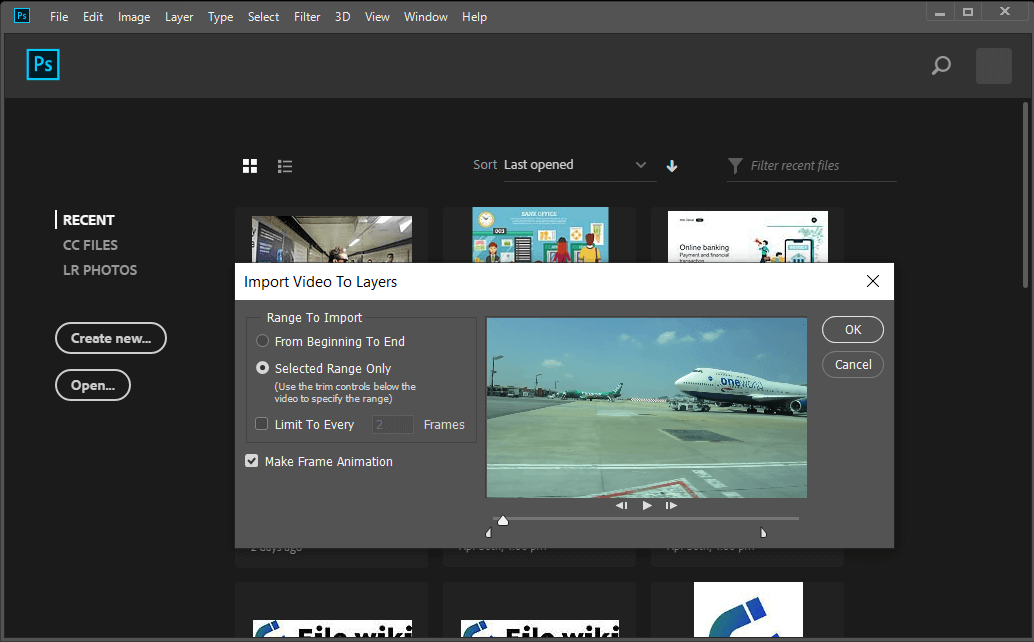 Trim the video to the exact duration you would like using the handles and import