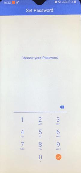 choose your password