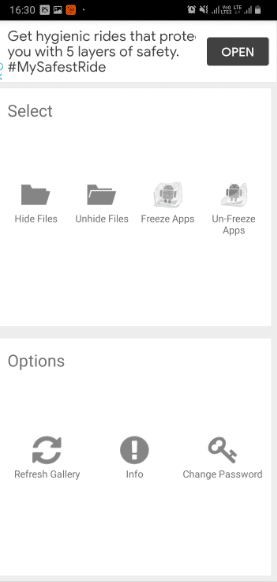 Click on file or folder to Add items