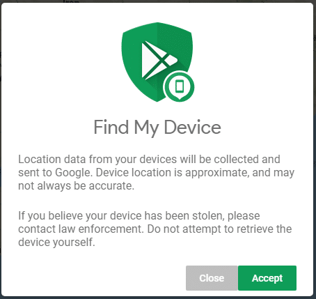 A Popup will come and Tap on the Accept button to continue