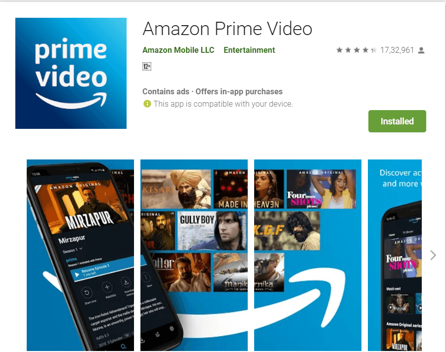 Amazon Prime Video | Best Video Streaming Apps