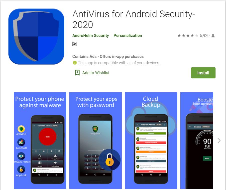AndroHelm Antivirus