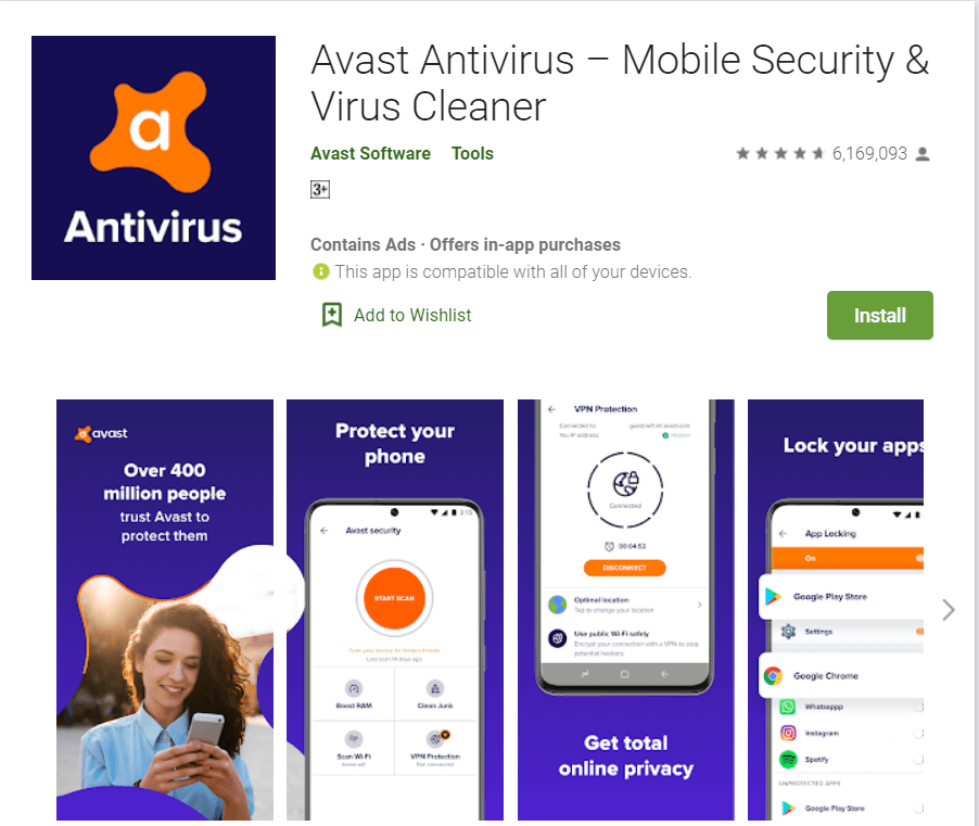 Avast AntiVirus | Best Adware Removal Apps