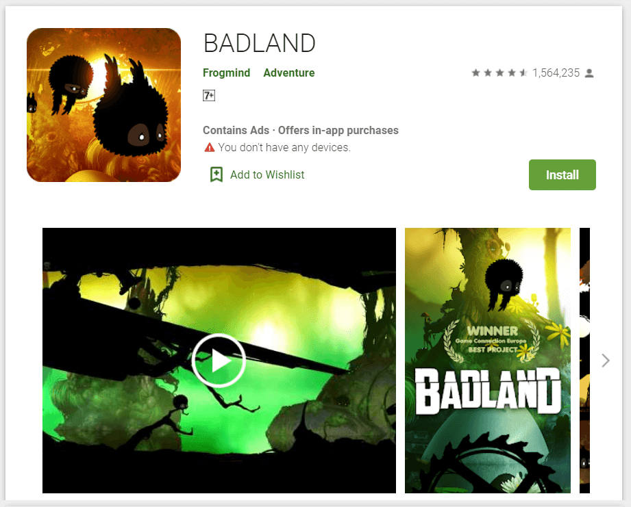 BADLAND Offline Games For Android