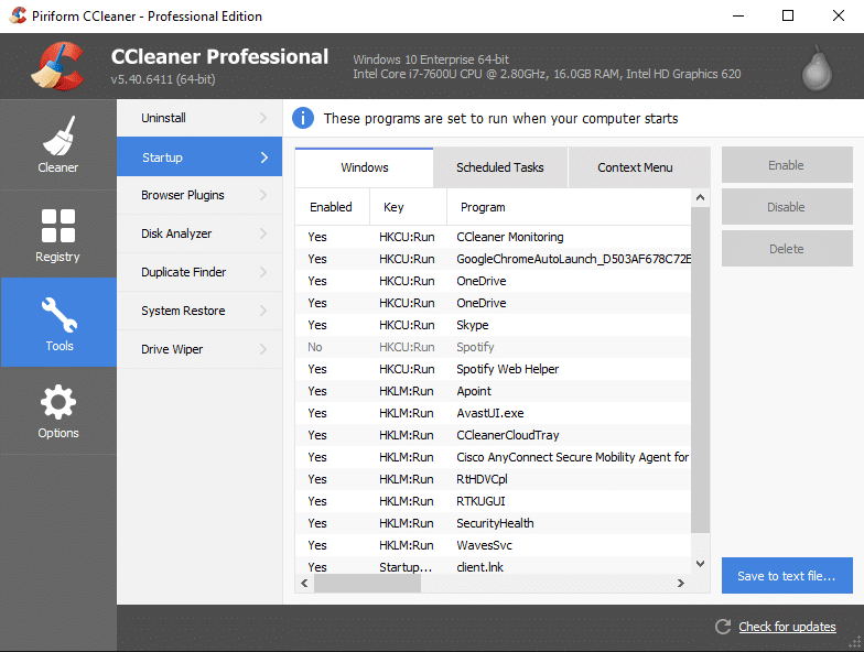 CCleaner | Must Have Software Programs for Windows