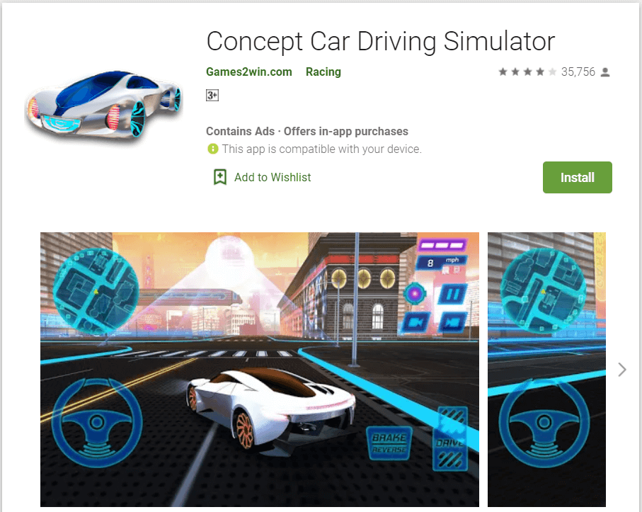 Concept Car Driving Semulator