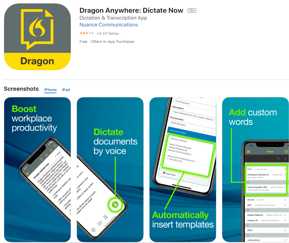 Dragon Anywhere | Best Speech To Text Applications