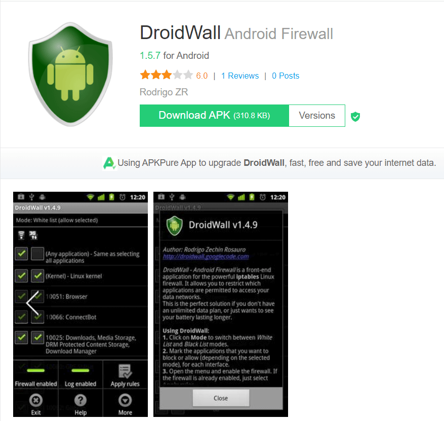 Droidwall