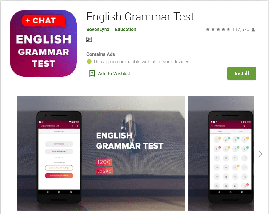 English Grammer Test | Top Grammar Apps for Android in 2020