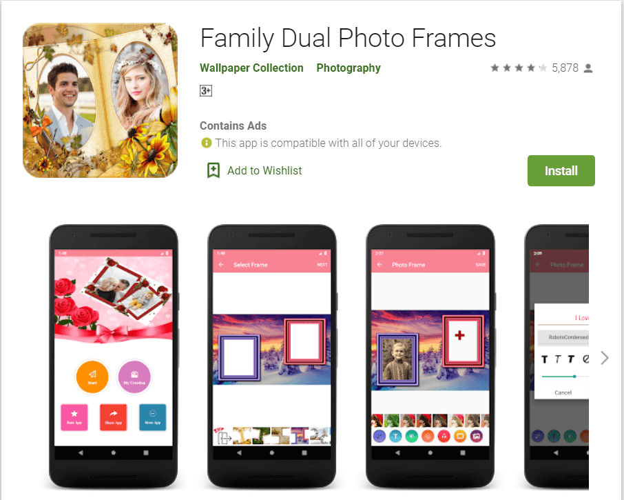 Family Dual Photo Frames