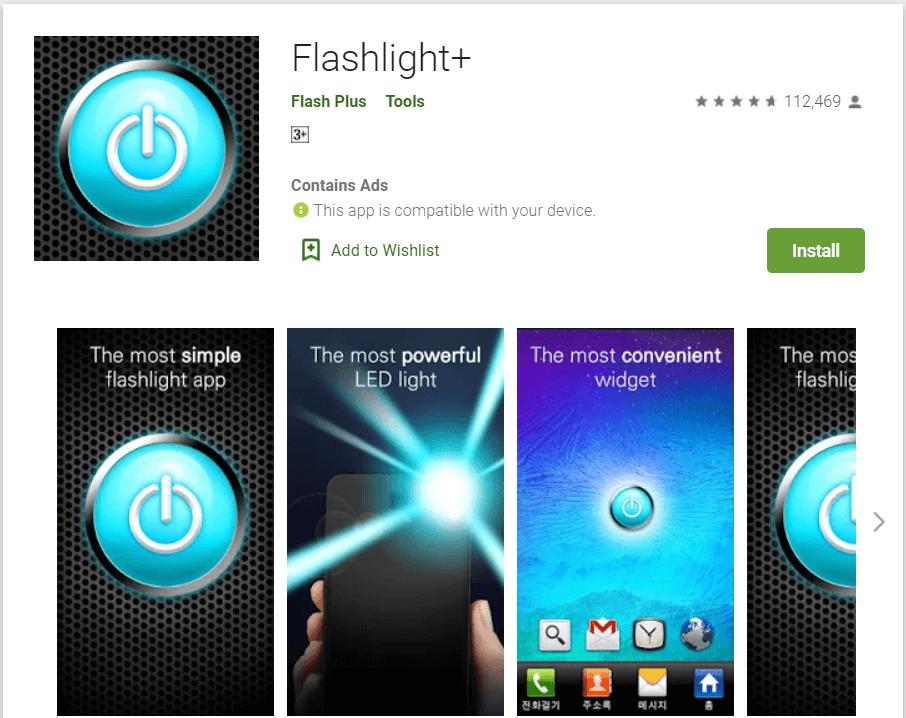 Flashlight+ | Best Android Widgets