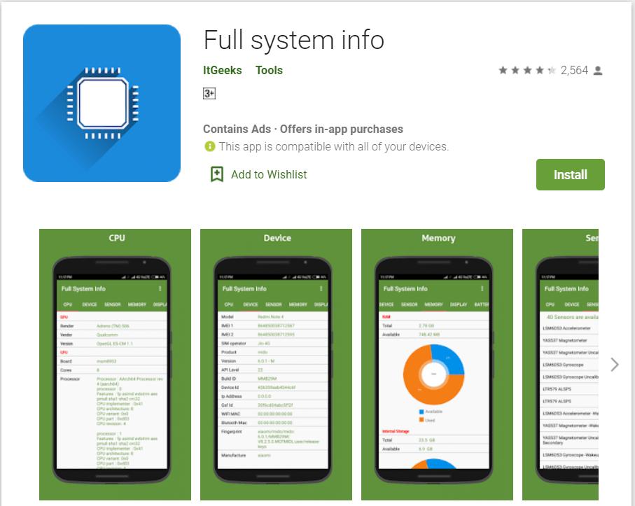 Full System Info