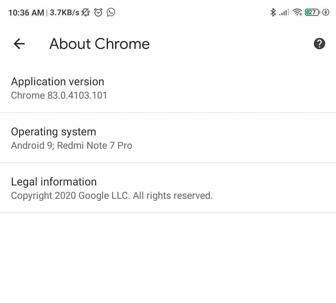 If there is an update available, then Google will show by itself, and you can click on the update.