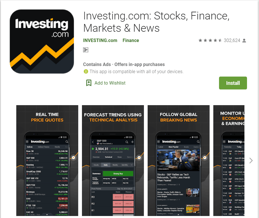 Investing.com   Top Apps For Stock Market Trading