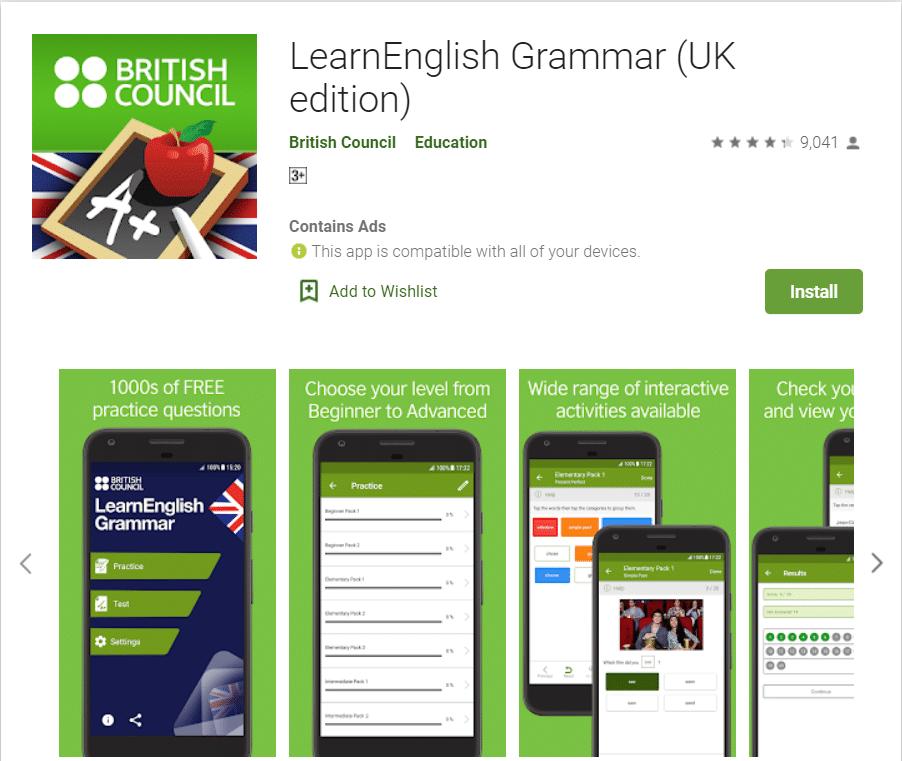 Learn English Grammar by British Council