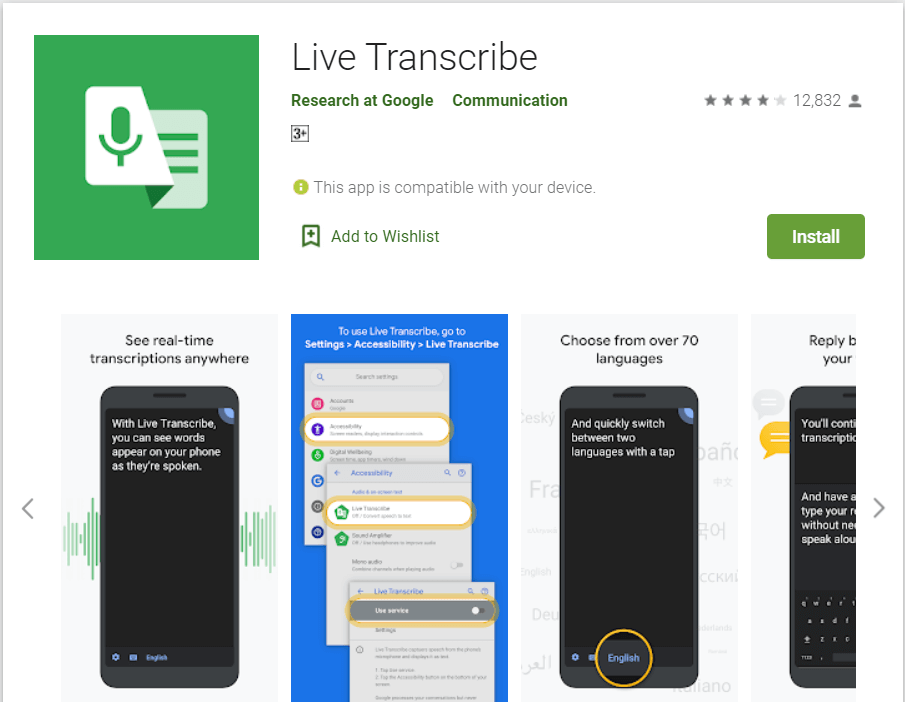 Live Transcribe