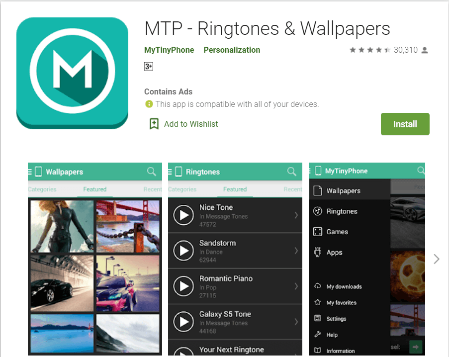 MTP - Ringtones and Wallpaper