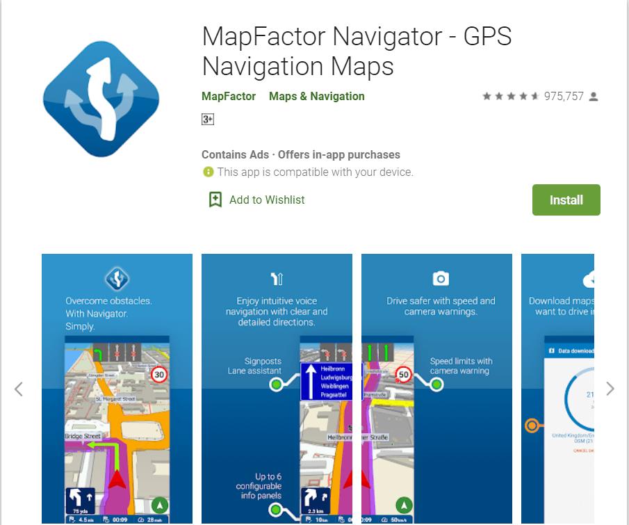 Map Factor Navigator