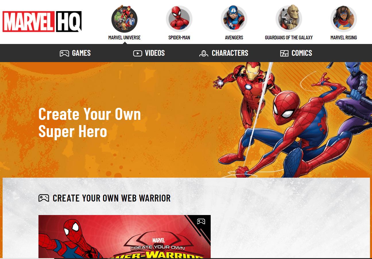 Marvel SuperHero Avatar   Create Cartoon Avatars Online