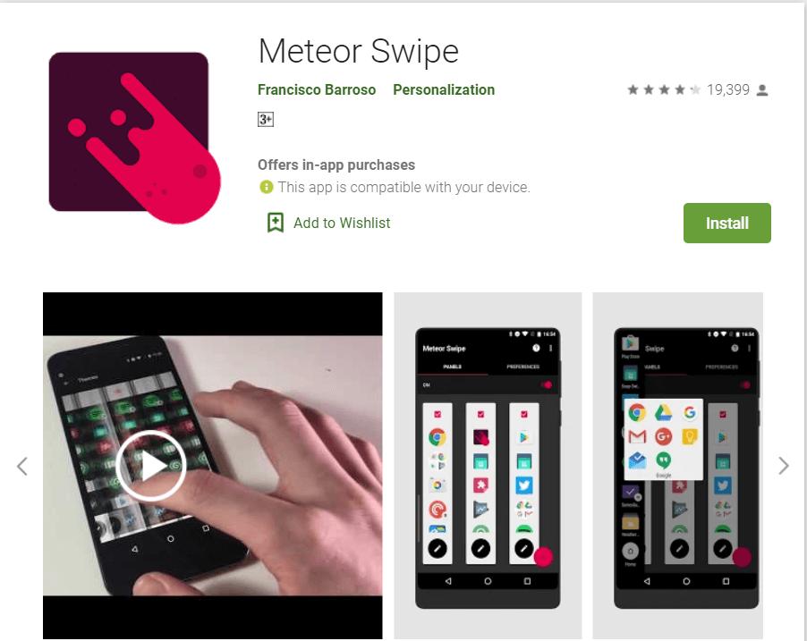 Meteor Swipe
